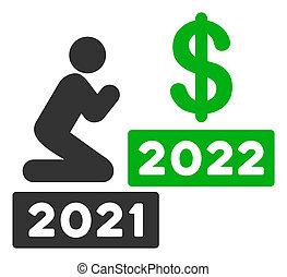 beten, wohnung, mann, 2022, dollar, raster, ikone