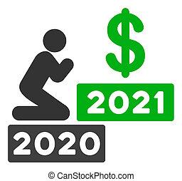 beten, wohnung, mann, raster, dollar, ikone, 2021