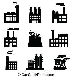 betriebe, fabriken, industrie, macht, gebäude