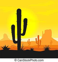 betriebe, kaktus, wüste