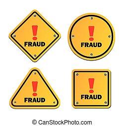 Betrug - Warnzeichen.