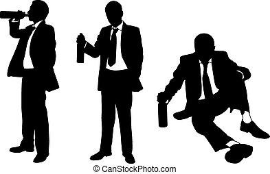 Betrunkene Männer.