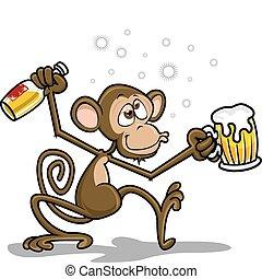 Betrunkener Affe