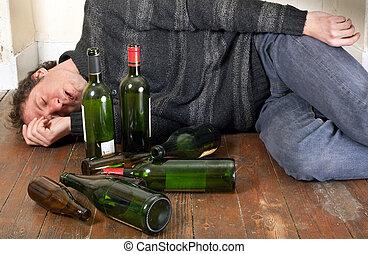 Betrunkener Mann lügt