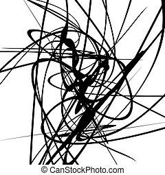 Bewege dynamische Linien. Curvy Linien geometrische monochrome Illustration, Kunst