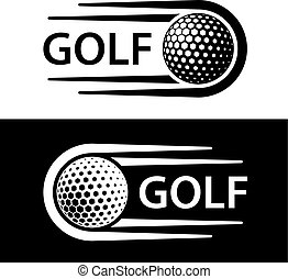 bewegung, symbol, linie, golf- kugel