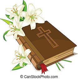 Bibel und Blumen