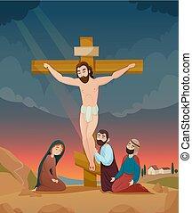 Bibelgeschichten Illustration.