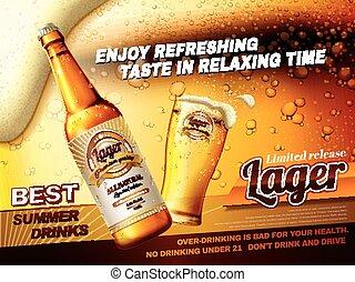 Bier-Anzeigen.