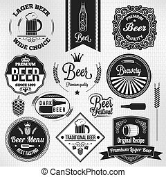 Bier stellt Vintage-Labels auf