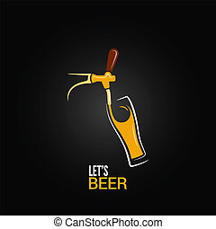 Bier Tap Glas Design Hintergrund.