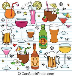 Bier-Wein-Doodle-Set