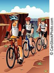 Biker in den Bergen.