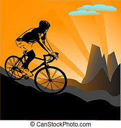 Biker-Silhouette