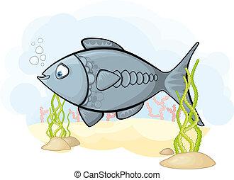 Bild des Fisches im Meer