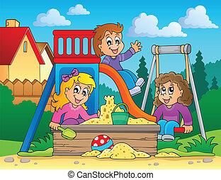 Bild mit dem Spielplatz-Thema 2
