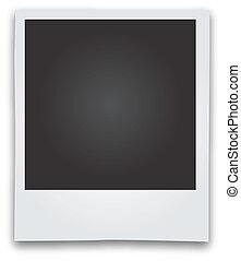 bilderrahmen, vektor, polaroid