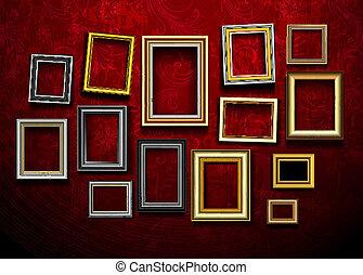 Bildrahmenvektor. Foto-Art-Galerie. Bildrahmenvektor. Ph