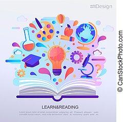 Bildung infographisches Konzept Banner.