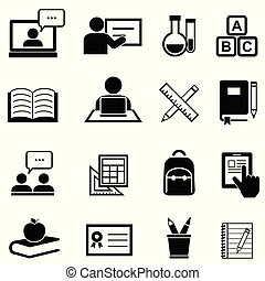 Bildung, Lernen und zurück zur Schule Ikonen.