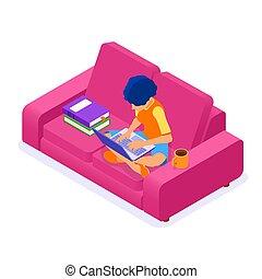 bildung, online, daheim, entfernung