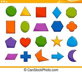 Bildungliche geometrische Formen.