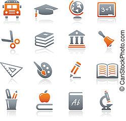 Bildungs-Ikonen / Graphit-Serie