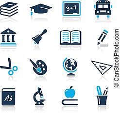 Bildungs-Ikonen/Azure-Serie