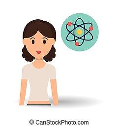 Bildungsdesign. Universitäts-Ikone. Farbvoll und isoliert Illustration, Menschen Avatar