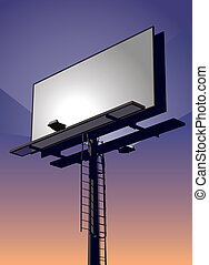 Billboard bei Sonnenuntergang