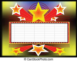 Billboard mit Sternen