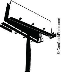 Billboard-Schild.