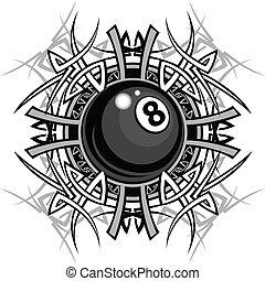Billiard acht Balldiagramme