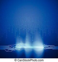binärcode, bach, beschaffenheit, brett, stromkreis