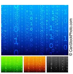 Binärer Code Hintergrund