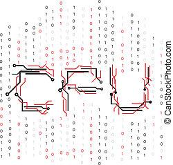 binärer, cpu, stromkreis