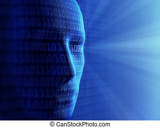 binärer, cyber-business, menschen, (detailed, /, begrifflich, background-, künstliche intelligenz, klein, code), millions