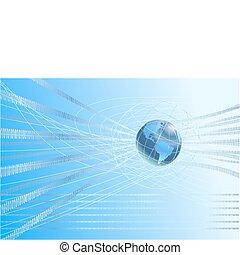 Binärer Globus Hintergrund