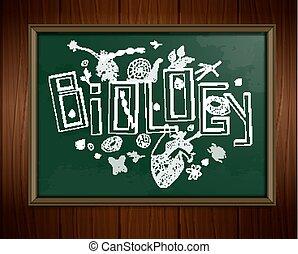 Biologie-Blackboard-Bild