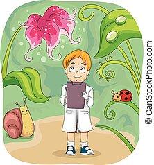 Biologische Notizen für Kinder.
