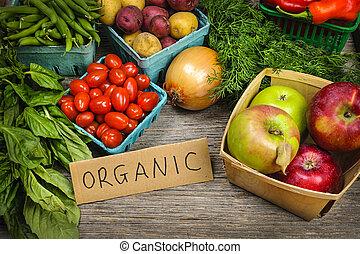 Biomarktobst und Gemüse