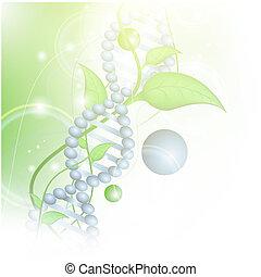 Biowissenschaftliches Thema mit DNA