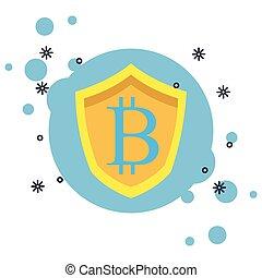 Bitcoin-Abzeichen Symbol isoliert.