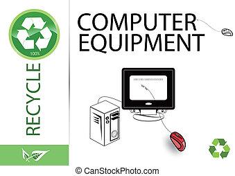 Bitte recyceln Sie Computerausrüstung