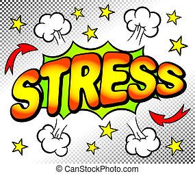 Bläschen mit Stress