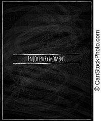 Black chalk Board Konzept Poster Vektor Hintergrund.