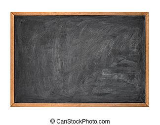 Blank Black School Kreidetafel auf weiß