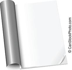 Blank Magazin auf der ersten Seite geöffnet.