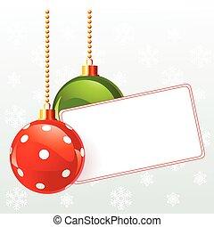 Blanke Label mit Weihnachtsdekorat
