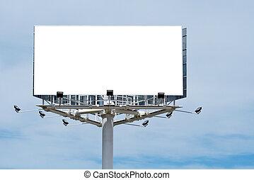 Blanke Plakatwand, füge einfach deine Nachricht hinzu